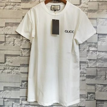 Gucci Women Fashion White T-shirt