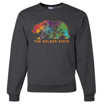 California Pastel Golden State Bear Crewneck Sweatshirt