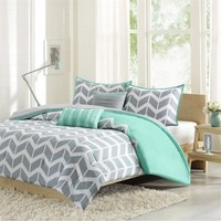 Intelligent Design Nadia Comforter Set, Teal, Twin/Twin X-Large