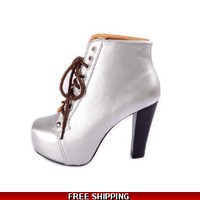 Metalic ankle boot