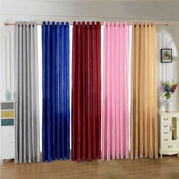 New Solid Color Polyester Window Drapes Textile Design Half Curtain Divider Beads Door Decoration