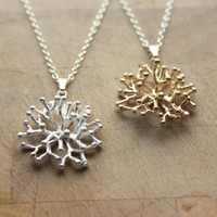 Unique Astrocyte Neuron Necklace. Sterling Silver, Rose Gold. Brain Science.