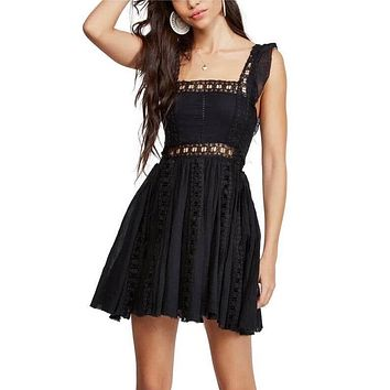Free People - Verona Mini Dress - Black