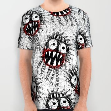 SPAWN OF MONSTER [WHITE] All Over Print Shirt by Matthew White