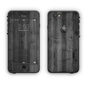 The Dark Black WoodGrain Apple iPhone 6 Plus LifeProof Nuud Case Skin Set