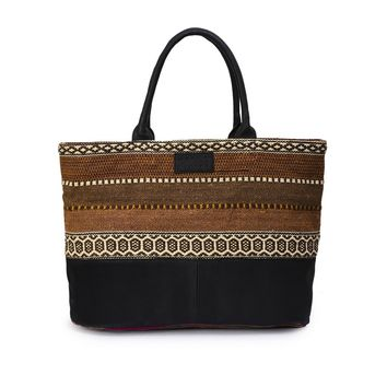 Phive Rivers Women's Jacquard Fabric Tote Bag -PRU1364