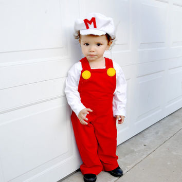 Super Mario Bros inspired costume fire power kid child children boys baby babies toddler  halloween costumes school event birthday party.
