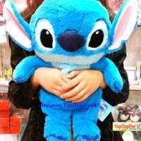 "23"" Authentic Disney Stitch SOFT Plush Filling 1.75L Hot Water Bottle Hand Warmer Heating Bag (One Doll Two Functions)"