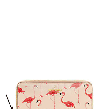 Kate Spade Cedar Street Flamingos Lacey Shell Pink ONE