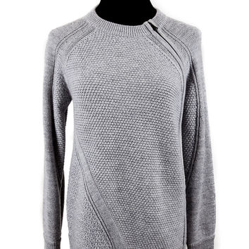 Grey Wool Side Zip Sweater Size:XS