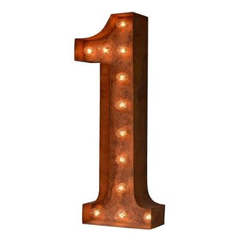 "36"" Number 1 (One) Sign Vintage Marquee Lights"