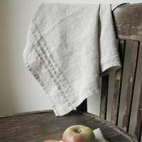 Linen tea towels set of 2- kitchen favors- dish towel- prewashed and softened