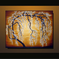 Original Wall Art, Modern Tree Painting on Gallery wrapped Canvas 24x30 Abstract Landscape, Home decor, great gift