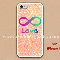 iPhone 5 Case, Forever Love iphone 5 case, infinity iphone 5 case, sparkle iphone 5 case, case for iphone 5