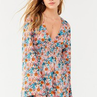 UO Elise Smocked-Waist Mini Dress | Urban Outfitters