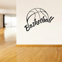 Wall Vinyl Sticker Decals Decor Basketball Ball Basket Sport Word Sign QUote (z2782)