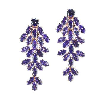 Amethyst Marquise Waterfall Clip Earring