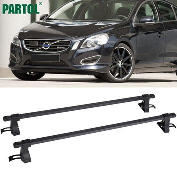 "Partol Universal 48"" Aluminum Car Roof Rack Cross Bars Crossbars 35kg/75LBS Cargo Basket Carrier Bike Rack Top Fit Normal Roof"
