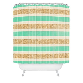 Allyson Johnson Glitter And Mint Shower Curtain