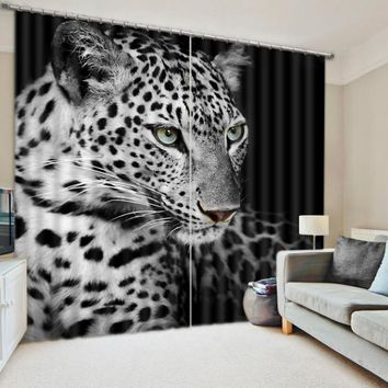 Modern Luxury 3D Curtains Drapes For Bed room Living room Office Hotel Cortinas Tiger Animal Blackout Shade Window Curtains