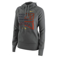 Women's Houston Astros Let Loose by RNL Charcoal 2017 World Series Champions Overthrow Boatneck Sweatshirt