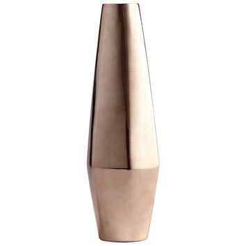 Large Di Lusso Contemporary Copper Ceramic Vase by Cyan Design