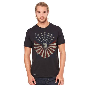 Zexpa Apparel American Bald Eagle USA Vintage Flag Men's T-shirt Patriotic Tees