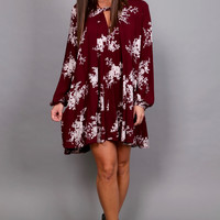 Let Me See Your Hips Swing Dress {Maroon}