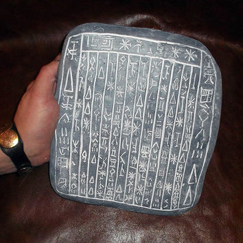 Word of God DOUBLE SIDED Tablet - Angel Tablet - Demon Tablet - Supernatural Prop