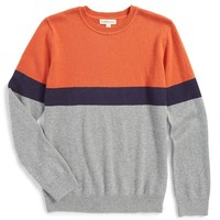 Boy's Tucker + Tate Colorblock Cotton & Cashmere Sweater,
