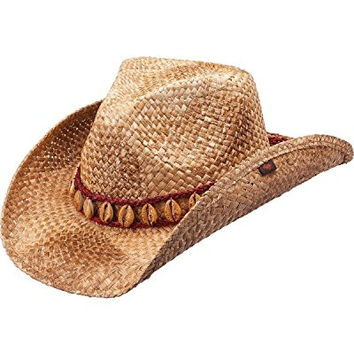 Peter Grimm Ltd Unisex Meadow Straw Cowboy Hat Brown One Size