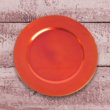 Amiltola Charger Plate in Rust | Set of 4