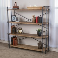 Denise Austin Home Mercia 4-Shelf Bookcase