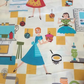 Newcastle Fabrics presents Happy Days Pattern #842 - Retro Kitchen Design Cotton Fabric