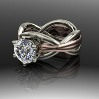 Infinity Forever Brilliant Moissanite Engagement Ring 1.50 CTW