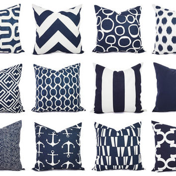 navy and white pillow cover navy blue throw pillow cover navy euro sham