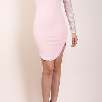 Dip It Dress with Lace Detail