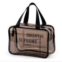 Supreme Trending Unisex Casual Toiletries bag travel bag transparent waterproof outdoor swimming fitness hot spring large capacity bathing bag Jelly bag