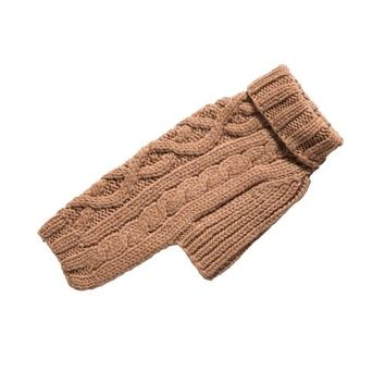 Nantucket Cable Knit Wool Sweater — Camel