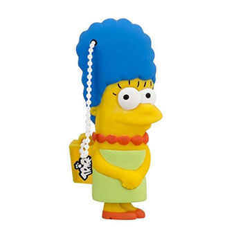 Tribe FD003403 Simpson Springfield Pendrive Figure 8 GB Funny USB Flash Drive 2.0 Memory Stick Data Storage, Keyholder Key Ring, Marge Simpson, Yellow