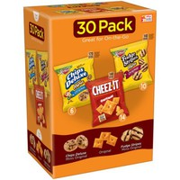 Keebler Chips Deluxe Minis/Cheez-It Baked Snack Crackers/Fudge Stripes Minis Variety Pack 31.2 oz. Pouches - Walmart.com