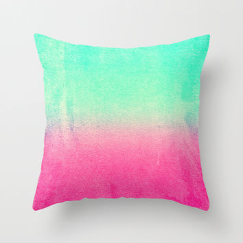 SUNNY MELON Throw Pillow by Monika Strigel | Society6