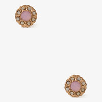 Circle Flower Studs | FOREVER 21 - 1017306897