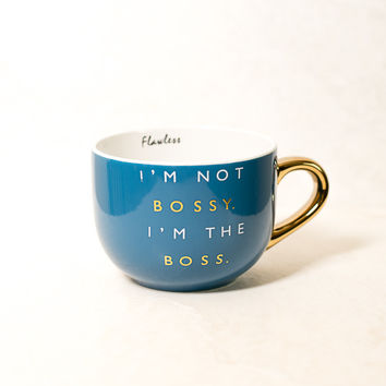 I'm Not Bossy Blue Coffee Mug