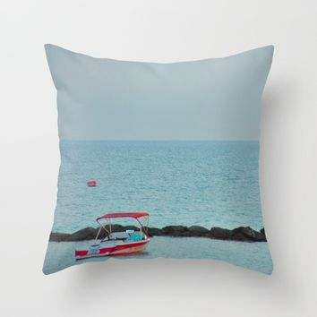 Between Sea and Sky Throw Pillow by Azima