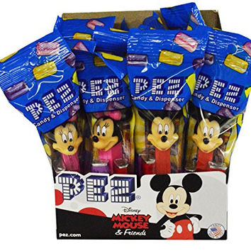 Mickey Mouse & Friends PEZ Candy Dispensers: Pack of 12