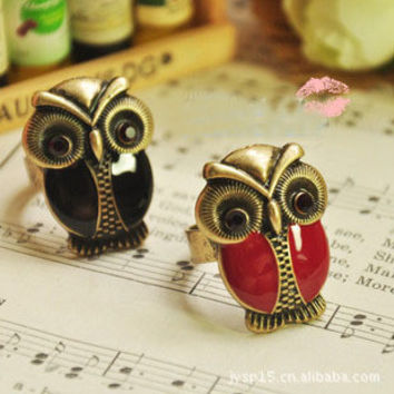 Stylish Gift New Arrival Jewelry Shiny Vintage Accessory Owl Ring [6057012801]