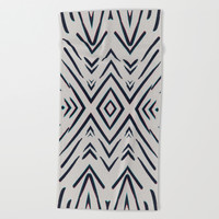 Geometric whatever Beach Towel by duckyb