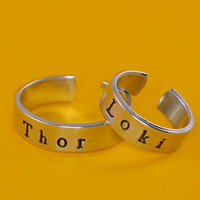 Thor and Loki Ring Set