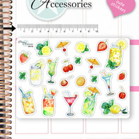 Cocktail Stickers Drink Stickers Party Stickers Summer Stickers Planner Stickers Erin Condren Functional Stickers Decorative Stickers NR746